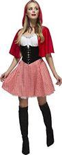 Smiffys Frauenfieber Rotkäppchen Kostüm Kleid und Kapuzenumhang Einmal