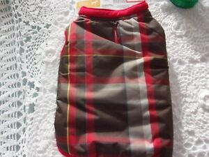 Plaid Red Jacket Dog S new pet puppy Boots & Barkley small