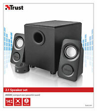 TRUST 20441 avedo 7w RMS 14w MAX RETE alimentata 2.1 Speaker Set, Audio Jack 3.5mm