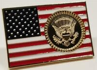 President Donald Trump USA Flag Lapel Pin White House POTUS Seal & Signatures