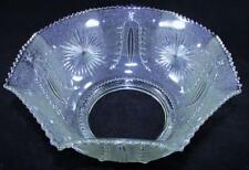"Antique Clear Stippled Glass 4"" Gas Kerosene Oil Lamp Upturned Shade Sun & Stars"
