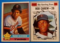 Vintage 1970-76 Topps Old Baseball Cards 2card Lot *HOF Rod Carew Twins* 70 #453