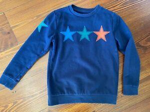 Gymboree Navy Blue Multi-Colored Stars Sweatshirt Sweater Boys S 5-6 Small
