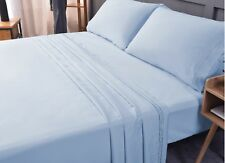 4 in 1 Full microfiber bed sheet sets for boutique hotels (White)