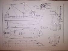 shrimp  TRAWLER boat model plan