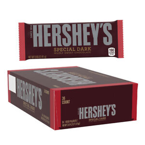 HERSHEY'S Special Dark Chocolate Candy Bars, 36 Count - 1.45oz bars