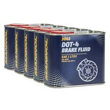 MANNOL Brake Fluid DOT-4 Bremsflüssigkeit SAE J 1703/ ISO 4925, 5x0,5 Liter