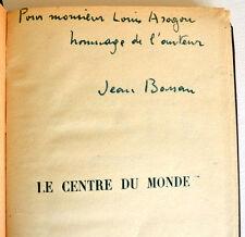 BASSAN Le Centre du monde 1935 Gallimard Service de presse ENVOI A ARAGON