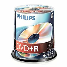 PHILIPS DVD+R 100 Pack Spindle - 120MIN - 4.7 GB -1 -16 x velocità