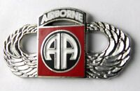 82ND AIRBORNE DIVISION LARGE WINGS US ARMY LAPEL PIN BADGE 1.5 INCHES