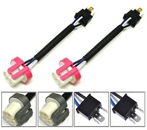 Conversion Wire 9003 HB2 H4 TO 9004 HB1 Two Harness Head Light Adapter Plug Play