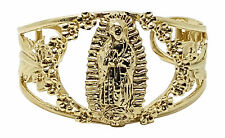 14KT Guadalupe Virgin Mary Stainless Steel Gold Filled Cuff Bangle Bracelet