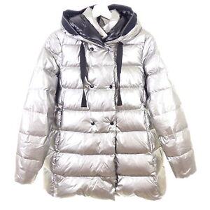 HETREGO Daunenjacke Winterjacke Jacket Down Silber Silver Gr. IT 42 DE 36