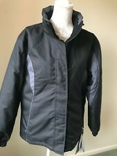 WOMENS PARALLEL BLACK/ CHARCOAL SKIING  FLEECE LINED JACKET UK 14-NEW