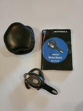 Motorola Bluetooth Wireless Headset With Belt Case And Manual