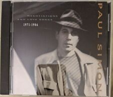 Paul Simon Love Negotiations And Live Songs 1971-1986  CD