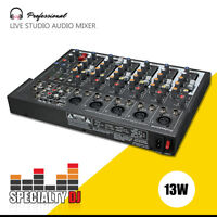 Professional 7 Channel Line Live Studio Audio Sound Mixer Mixing Console USB