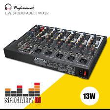 Professional 7 Channel Line Live Studio Audio Sound Mixer Mixing Console USB