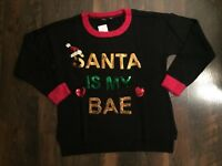 XL black NWT SANTA IS MY BAE UGLY CHRISTMAS SWEATER by UNITED STATES SWEATERS