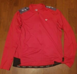 PEARL IZUMI Select Men's Red Cycling Long Sleeve Jersey - XL