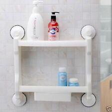 Long Salle de bain Meuble Rangement Blanc Support Mural ABS, PVC Étagère