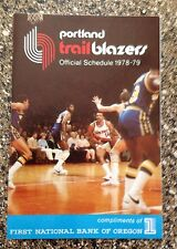 Portland Trail Blazers 1978-79 Lionel Hollins NBA Pocket Schedule bundle NEW