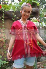 Tops Vintage Thai Hill Tribe Karen Bohemian Antique Clothing Women 100% Cotton