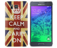 Custodia in TPU per Samsung Galaxy Alpha g850 Custodia Protettiva Cover Keep Calm and Carry On GB