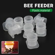 Bee Feeder 10pcs Plastic Beehive Water Drink Feeding Fountains Apiculture Tool