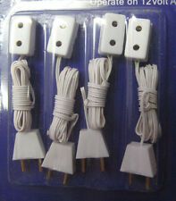 Heidi Ott Pack of Four Single Extensions Dolls House Electric's Plugs sockets