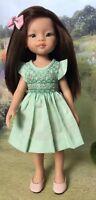 "28cm Boneka Smocked Cotton Dress For Paola Reina Las Amigas 13"" dolls"