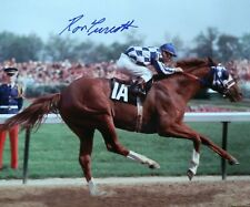 Ron Turcotte signed Secretariat Kentucky Derby 1973 8x10 color