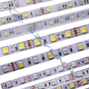 SMD 5050 RGB CCT LED Strip Waterproof DC 12V 24V CCT RGBW light flexible 5m 50m