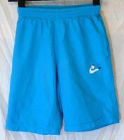 Boys Nike Aqua Blue Drawstring Waist Mesh Lined Football Shorts Age 11-12 Years
