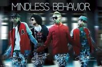 MINDLESS BEHAVIOR ~ SIGNATURES MB 22x34 MUSIC POSTER Ray Princeton Prodigy Royal