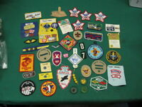 Lot of 40 plus Vintage Patches and Pins from Boy Scout and More