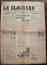 LE CLOCHARD, journal des clochard de Paris, dimanche 22 mai 1938, numero 3.