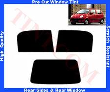 Pre Cut Window Tint Daewoo Matiz 5D 1998-2004 Rear Window & Rear Sides Any Shade