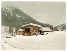 Scène hivernale avec structure de rondins III Grisons A4 papier photo