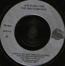 "JIVE BUNNY over to you john/the night i saw the bunny jive MFD012 uk 7"" WS VG/"