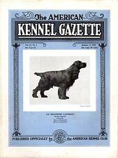 Vintage American Kennel Gazette January 1934 Cocker Spaniel Cover
