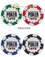 Poker Untersetzer 4 Stück Pokeruntersetzer Poker Zubehör Casino Deko