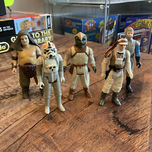 Kenner Star Wars Vintage Action Figure Bundle Retro Luke Rancor Keeper Trooper