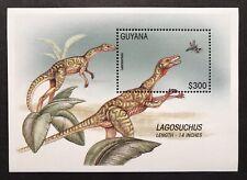 GUYANA DINOSAUR SOUVENIR SHEET 1996 MNH PREHISTORIC ANIMALS LAGOSUCHUS STAMPS