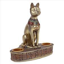 Egyptian Goddess of Fire & Felines Bastet Feline Cat Goddess Altar Candle Holder