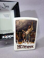 "Zippo  ""JIMI HENDRIX""  - WOODSTOCK - CREME MATT - NEU & ovp - #364"