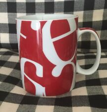 Konitz Coffee Mug Cup Macchiato Cafe Mocha Latte Cappuccino Red & White