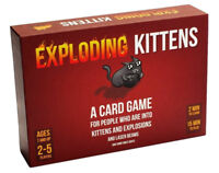 NEW Exploding Kittens Red Box Deck Card Game Party Game Family Humor Fun