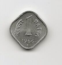 World Coins - India 1 Paisa 1966 Coin KM# 10