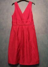 Now Collection ladies fushia pink satin dress size 12